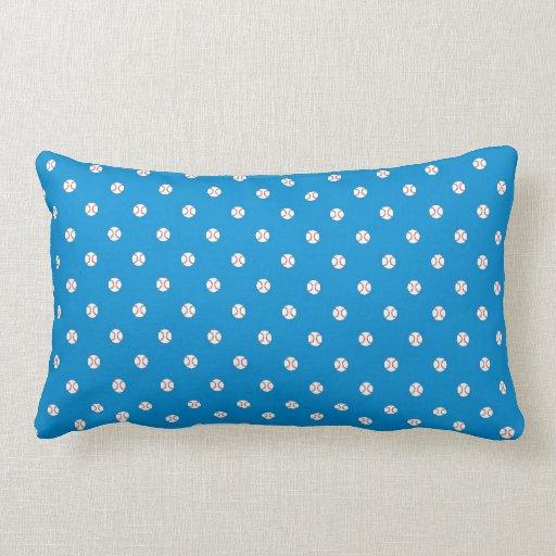 Blue Baseball Polka Dots Pillow