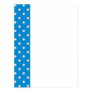 Blue Baseball Polka Dots Postcard