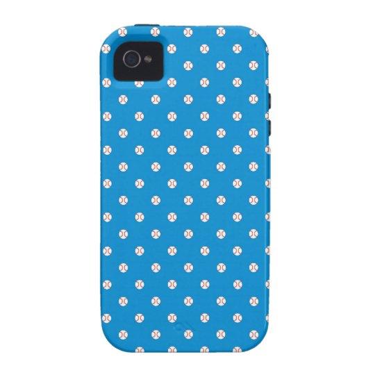 Blue Baseball Polka Dots Vibe iPhone 4 Cover
