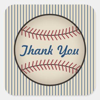 Blue Baseball Thank You Stickers