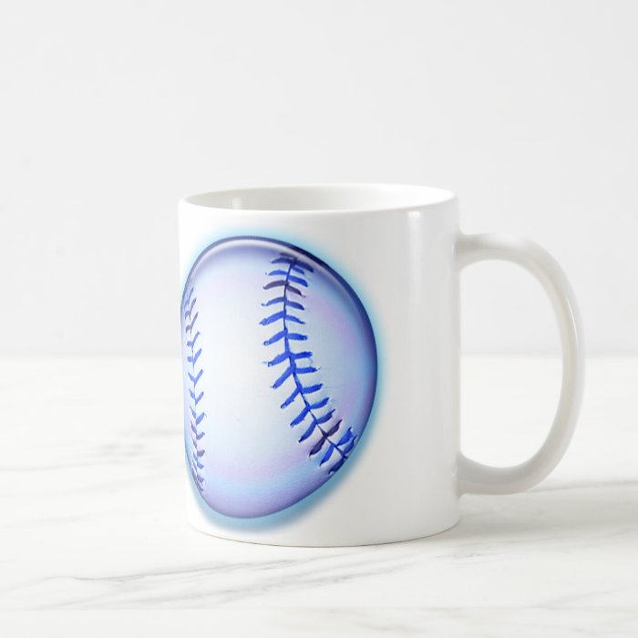 Blue Baseballs Coffee Mug