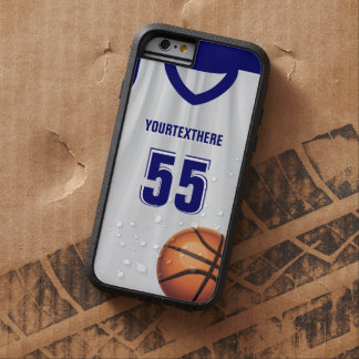 Blue Basket Ball Dress Name Number Tough Xtreme iPhone 6 Case