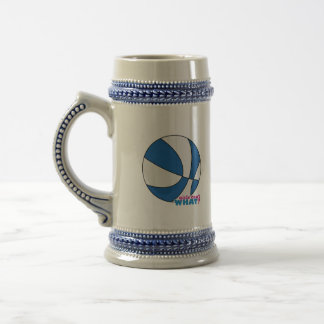 Blue Basketball Beer Stein