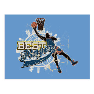 Blue Basketball Best Player Tshirts and Gifts Postcard