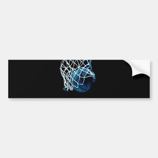 Blue Basketball Bumper Sticker