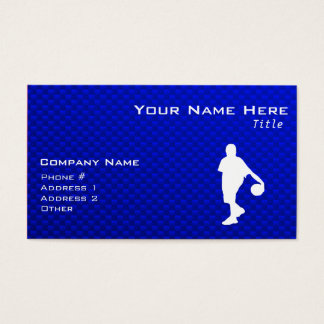Blue Basketball Business Card