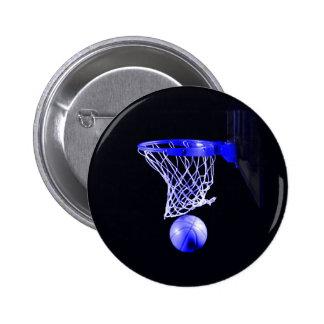 Blue Basketball 2 Inch Round Button