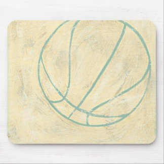 Blue Basketball by Chariklia Zarris Mouse Pad