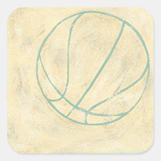 Blue Basketball by Chariklia Zarris Square Sticker
