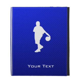 Blue Basketball iPad Folio Cover