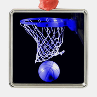 Blue Basketball Christmas Tree Ornaments