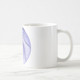 Blue Basketball Classic White Coffee Mug