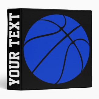 Blue Basketball Custom Basketball Playbook 3 Ring Binder