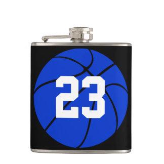 Blue Basketball Custom Hip Flask