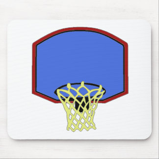 Blue Basketball Hoop Mouse Pads