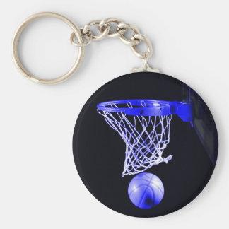 Blue Basketball Keychains