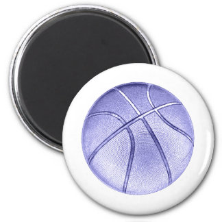 Blue Basketball 2 Inch Round Magnet