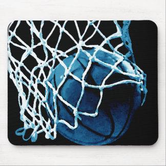 Blue Basketball Mouse Pad