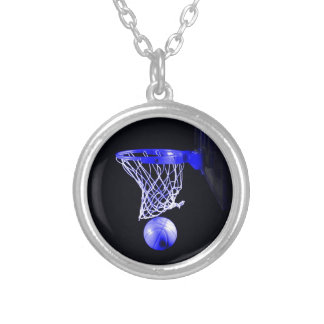 Blue Basketball Personalized Necklace