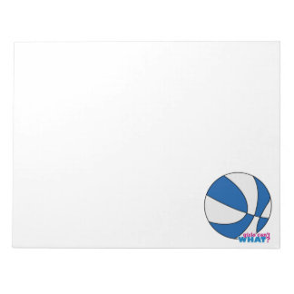 Blue Basketball Note Pad