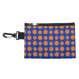 Blue basketball pattern accessories bags