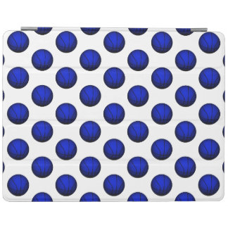 Blue Basketball Pattern iPad Cover
