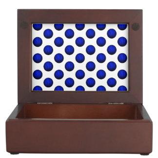 Blue Basketball Pattern Memory Box