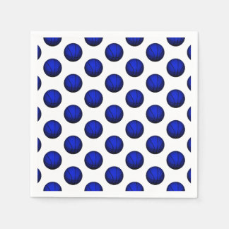 Blue Basketball Pattern Napkin