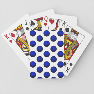 Blue Basketball Pattern Playing Cards