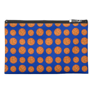 Blue basketball pattern travel accessory bag