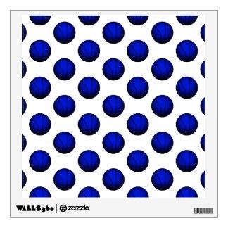 Blue Basketball Pattern Wall Sticker