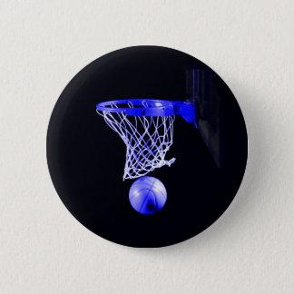 Blue Basketball Pinback Button