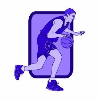 Blue Basketball Player Photo Cutout