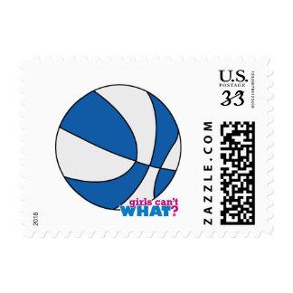 Blue Basketball Postage Stamps