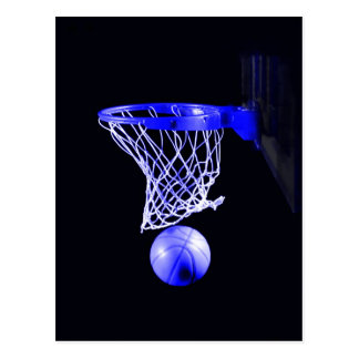 Blue Basketball Postcard