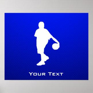 Blue Basketball Print
