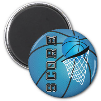 Blue Basketball Score Magnet