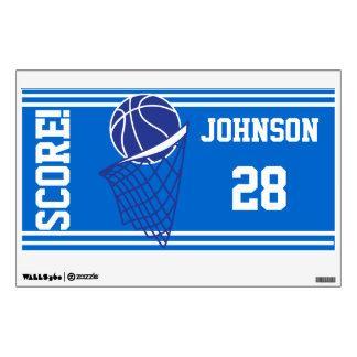 Blue Basketball Score Wall Decal