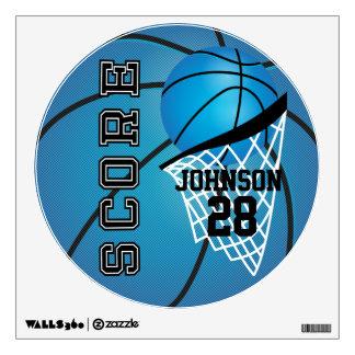 Blue Basketball Score Wall Decal
