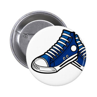 Blue Basketball Sneaker Button