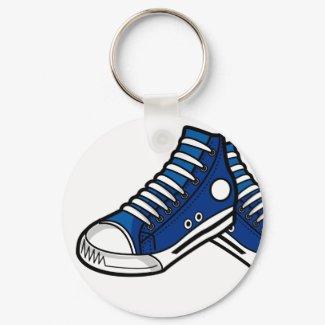 Blue Basketball Sneaker Keychain keychain