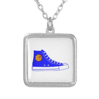 Blue Basketball Sneaker Custom Jewelry