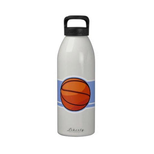 Blue Basketball; Sport Water Bottles
