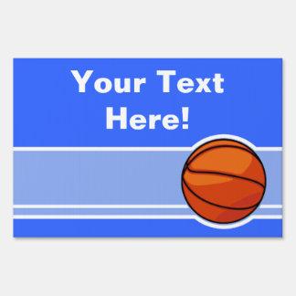 Blue Basketball; Sport Sign