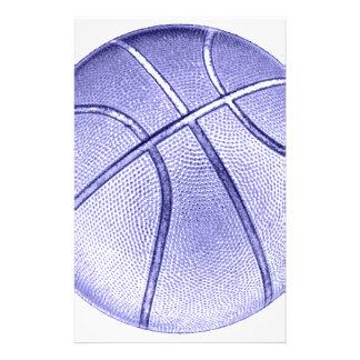Blue Basketball Stationery