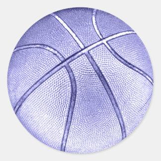 Blue Basketball Stickers