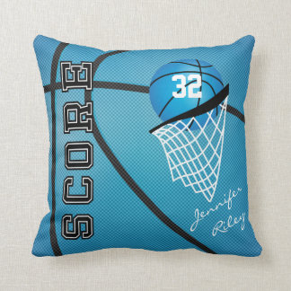 Blue Basketball Style | Personalize Throw Pillows