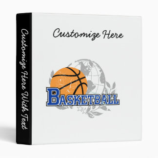 Blue Basketball T-shirts and Gifts 3 Ring Binder