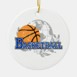 Blue Basketball T-shirts and Gifts Ornament