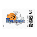 Blue Basketball T-shirts and Gifts Postage Stamps